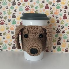 This Dachshund coffee mug cozy is guaranteed to make any proud Doxie squeal. It is one of my favorite designs because Doxie mamas are so passionate about their breed! Just imagine what a fun conversation piece this one of a kind handmade item will be for the home or office. It would also be the most thoughtful, unique gift for someone coping with the loss of a pet.  The cozy slides up your travel mug for a snug fit around the middle. It will stretch to fit most cup sizes. The cozy also looks…