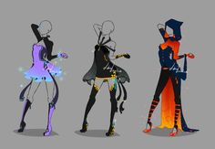 Outfit design - 221 - 223 - closed by LotusLumino on DeviantArt