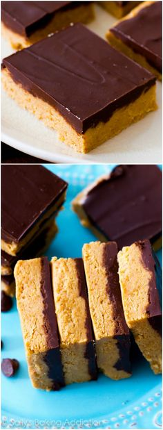 An easy recipe for no-bake Chocolate Peanut Butter Bars.