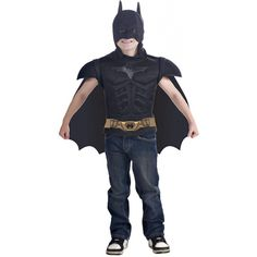 Boys Costumes - Batman Muscle Shirt Cape Boys Costume Tv Movie Dc Comics Superhero - Movie Costume - Includes a muscle chest T?shirts,headpiece and a removable cape. Flash Halloween Costume, Batman Halloween Costume, Batman Costumes, Diy Halloween Costumes For Kids, Boy Costumes, Batman Dark Knight, Black Batman, Costume Garçon, Costume Shirts
