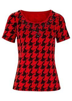 Gloocker houndstooth print T-shirt A • £37.99 • bonprix