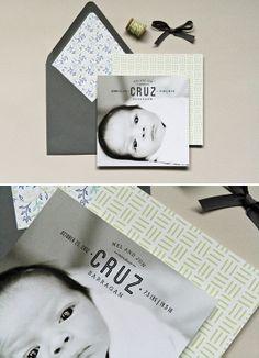 Birth Announcements for Baby Cruz