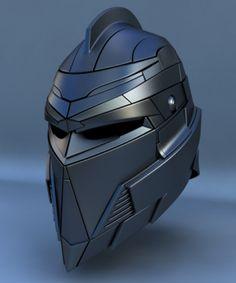 3ds robot head helmet concept