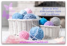 $100 Luxury Yarn Gift Certificate Giveaway! http://blog.expressionfiberarts.com/2014/05/06/100-luxury-yarn-gift-certificate-giveaway/