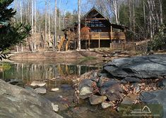Beyond the Pond - Can you believe this cabin is only 1 bedroom! It is the perfect place for a romantic escape into the Smoky Mountains! Click here to see more http://www.jacksonmountainhomes.com/gatlinburg-cabins/rentals/beyond-the-pond/8/alpha
