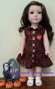 Halloween Yacht Club Dress by Kizzie Creations on Etsy