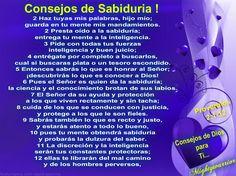 JESUS PODEROSO GUERRERO: Consejos de Sabiduría