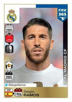 76bee6df6 Panini 365  Gold Sticker - Sergio Ramos