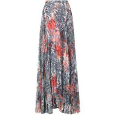 alice and olivia Shannon Floral Print Chiffon Maxi Skirt