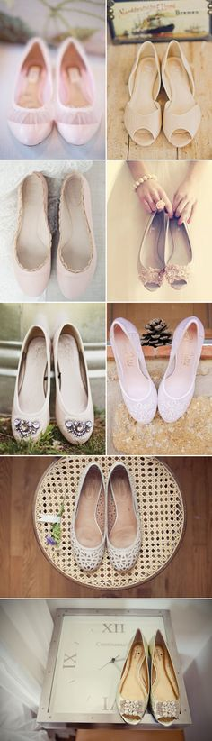 Classic elegance flat wedding shoes