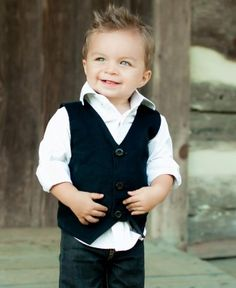Rugged Butts Black Corduroy Vest - must find this kid for Stella