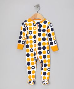 Take a look at this Orange Dot Organic Footie by Sweet Peanut on #zulily today!