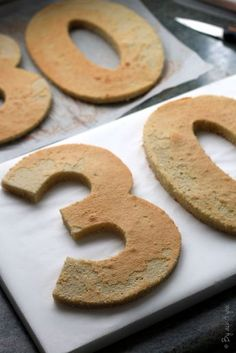 Number cake, Joconde biscuit and diplomat cream - Anif Ariana - Number Birthday Cakes, Number Cakes, Food Cakes, Cupcake Cakes, Happy Bday Cake, Cake Recept, Cake Lettering, London Cake, Easy Eat