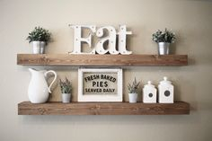 Floating Shelf | Rustic Floating Shelf | Ledge Shelf | Wooden Floating Shelf | Floating Shelves | Farmhouse Decor | Chunky Shelves | by DunnRusticDesigns on Etsy https://www.etsy.com/listing/476061022/floating-shelf-rustic-floating-shelf