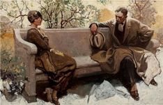Heritage Auctions - Art Auction Details - Auction Records and Results American Illustration, Illustration Art, Magazine Illustration, Traditional Paintings, Norman Rockwell, Vintage Artwork, Art Auction, Figurative Art, Art And Architecture