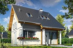 Projekt domu Mikrus 100 M2, Home Fashion, House Rooms, Traditional House, Home Living Room, Surfboard, Building A House, Farmhouse, Cabin