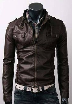 Handmade Men leather Jacket Men biker leather by WalletLeather, $139.00
