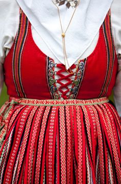 Costume from Leksand in Delecarlia,Sweden