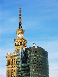 Warsaw, Poland - old and new age. I absolutely love this photo!