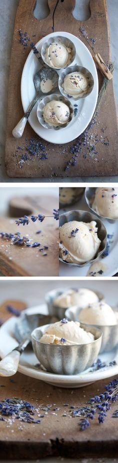 Yummy salted caramel & lavender ice cream!