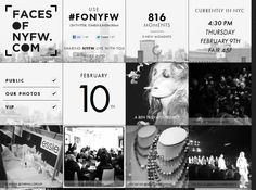 Faces of New York Fashion Week   http://www.facesofnyfw.com/
