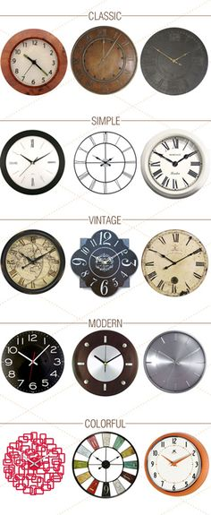 Wall clocks with design style can give a new look to your room.