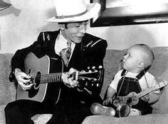 Hank Williams with Hank Jr.