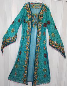 "Bust 48"" Fancy Maxi Abaya Evening Cover Up Dress Gown Ethnic Kaftan Belly Dance | eBay"