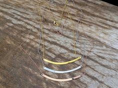 Gold necklaceGold plated silver sterling 925 by PlusLoveStudio - Arrow Necklace, Gold Necklace, Mother Day Gifts, Silver Plate, White Gold, Rose Gold, Necklaces, Sterling Silver, Stuff To Buy