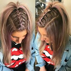 Pin on Gorgeous hair color Pin on Gorgeous hair color Cool Braid Hairstyles, Easy Hairstyles For Long Hair, Braids For Long Hair, Girl Hairstyles, Medium Hair Styles, Curly Hair Styles, Gorgeous Hair Color, Hair Styler, Aesthetic Hair