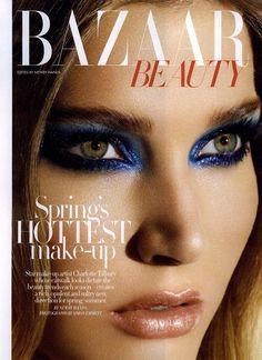 Harper's Bazaar UK Editorial Bazaar Beauty, March 2009 Shot     Charlotte Tilbury makeup