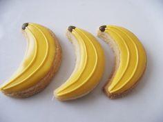 Banana sugar cookies - 3 dozen. $18.00, via Etsy.