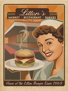 Litton's Diner.  Best red velvet cake in Knoxville Tennessee!!