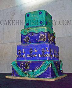 Indian Sari Wedding Cake   Flickr - Photo Sharing! by Cakeheads