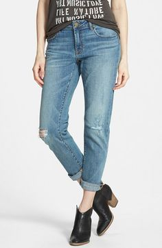 BP. Girlfriend Jeans (Mystic Blue Distressed) | Nordstrom