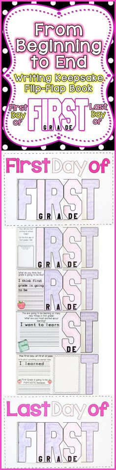 FUN, Interactive, and a great Keepsake for your parents. Have your students create a F-I-R-S-T Grade Flip-Flap Writing Keepsake on the First Day of School and the Last Day of School. Parents will cherish it for years to come!$
