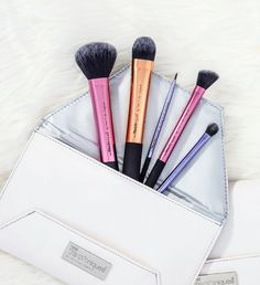Not sure what to get the beauty guru in your life? Before browsing beauty products, gift the tools needed to create a flawless look (like this deluxe gift set).