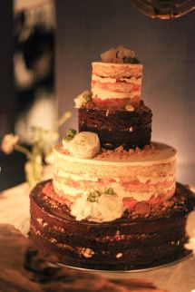 Naked cake   Style Me Pretty