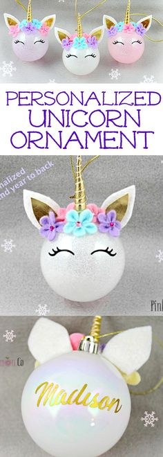 What a sweet ornament for a little girl! I love our annual Christmas ornament tradition. Finding special ornaments for each of my kids is so fun. #ornament #unicorn #whimsical #christmas #oybpinners #ad