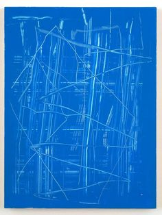 Reckon — Futuristic Painting « 2006 by Richard Aldrich . Contemporary Art Daily, Contemporary Paintings, Art Walk, Blue Painting, Sea Art, Mark Making, Blue Abstract, Traditional Art, Abstract Expressionism