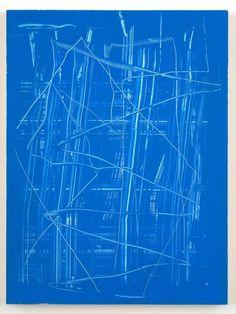 Reckon — Futuristic Painting « 2006 by Richard Aldrich . Contemporary Art Daily, Contemporary Paintings, Art Walk, Blue Painting, Sea Art, Mark Making, Blue Abstract, Traditional Art, Art Blog