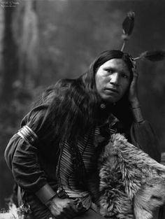 Afraid of Hawk, Native American Oglala Sioux man, (Lakota), 1899.Heyn Photo, Omaha.