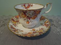 Vintage Teacup and Saucer Royal Albert by SallysVintageKitchen, $37.00