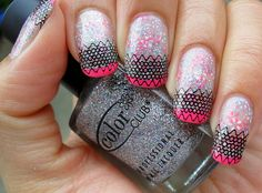 Get lovely lace designs #nails