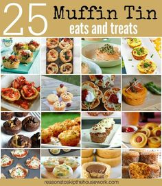 We all love easy and cute, so these 25 muffin tin meals are perfect! Recipes for dinner with the kids, a party, or just for a fun treat any time of day! Crockpot Recipes, Cooking Recipes, Cooking Eggs, Egg Recipes, Recipies, Lemon Tartlets, Muffin Tin Recipes, Muffin Tins, Peanut Butter Cup Cookies
