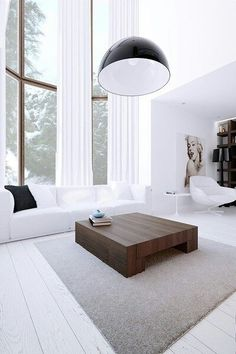 Check Out 30 Timeless Minimalist Living Room Design Ideas. A minimal living room is an absolute must for any modern home. Home Living Room, Living Room Designs, Living Room Decor, Living Spaces, Bedroom Decor, Minimalist Interior, Minimalist Living, Modern Living, Modern Minimalist