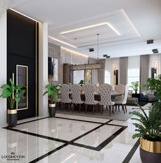 Due to Maison et Objet, we bring you luxury dining room ideas by the top interior designers in France. Ceiling Design Living Room, Home Room Design, Dream Home Design, Dining Room Design, Modern House Design, Decor Interior Design, Dream House Interior, Luxury Homes Interior, Luxury Condo