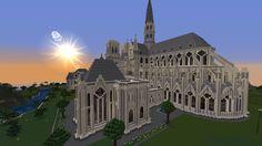 #Minecraft  #Cathédrale #Notre-Dame de Paris #Catedral Minecraft Create, Minecraft Ideas, Castle, Building, Minecraft Projects, Ideas, Buildings, Castles, Construction