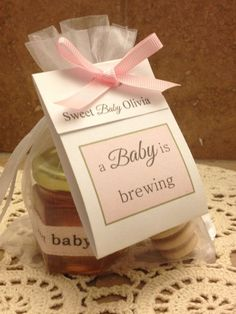 a baby is brewing tea & honey favor baby shower gift by holyhoney #babyshowerfavors