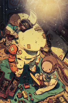 junk gallery Art And Illustration, Illustrations And Posters, Anime Kunst, Anime Art, Character Concept, Character Art, Jolie Photo, Sci Fi Art, Cool Drawings